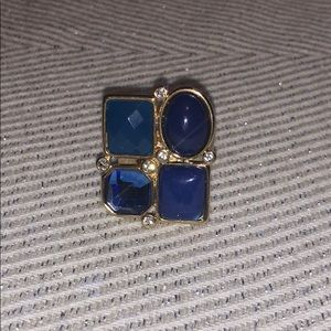Blue jeweled ring